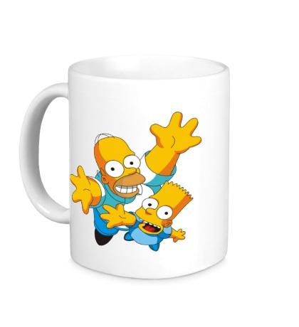 Керамическая кружка Гомер и Барт
