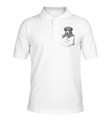Рубашка поло Щенок в кармане