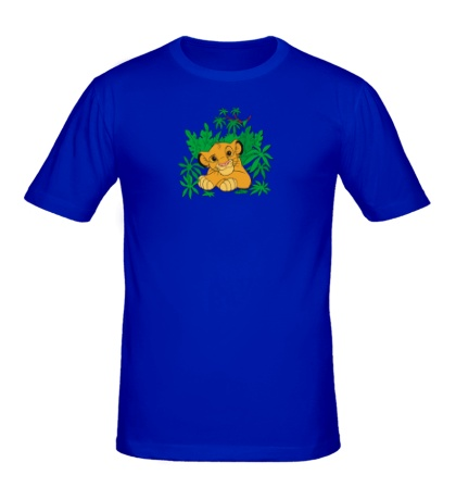 Мужская футболка Симба в джунглях