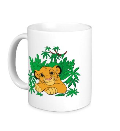 Керамическая кружка Симба в джунглях