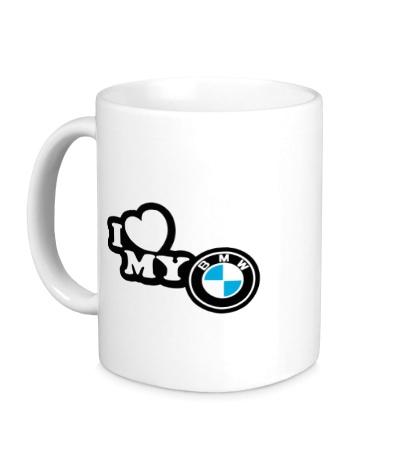 Керамическая кружка I Love my BMW
