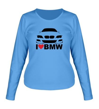 Женский лонгслив Love BMW