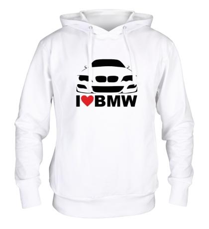 Толстовка с капюшоном Love BMW