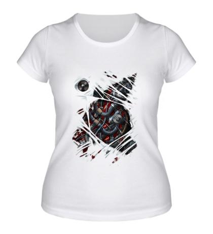 Женская футболка Двигатель внутри