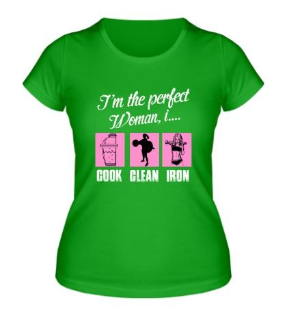 Женская футболка Cook, Clean & Iron