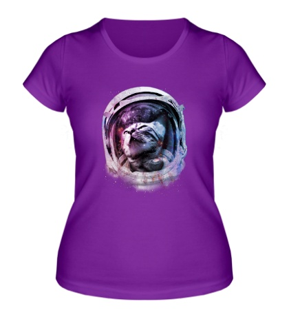 Женская футболка Кот астронавт