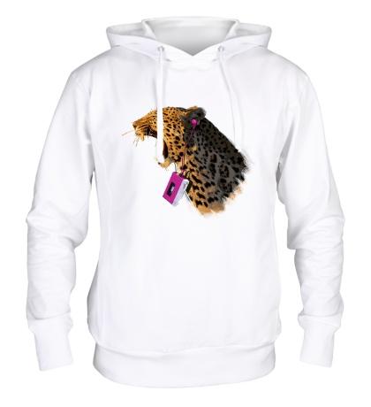 Толстовка с капюшоном Леопард меломан
