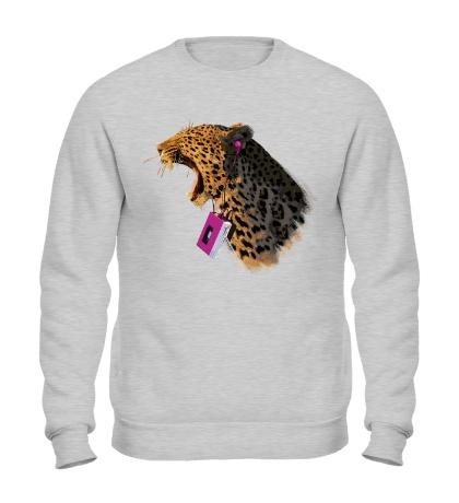 Свитшот Леопард меломан