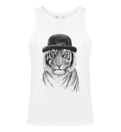 Мужская майка Белый тигр