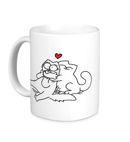 Керамическая кружка Simons Cat love
