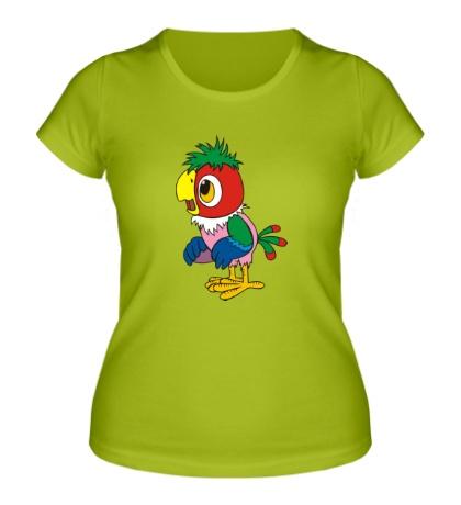 Женская футболка Попугай Кеша
