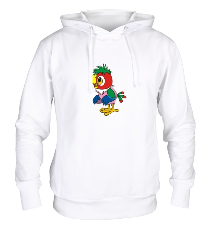 Толстовка с капюшоном Попугай Кеша