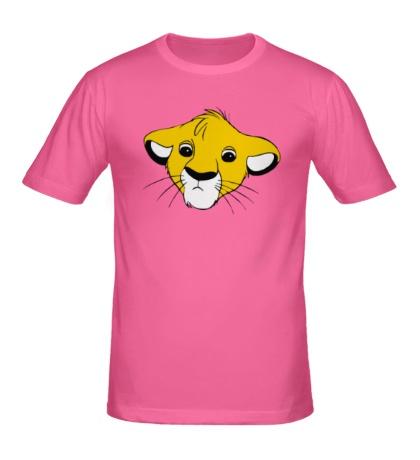 Мужская футболка Грустный Симба