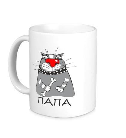 Керамическая кружка Папа, кот