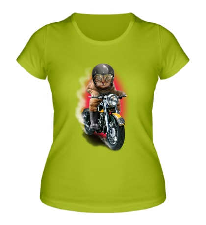 Женская футболка Котогонщик