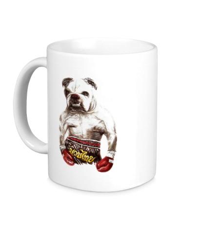 Керамическая кружка Пёс-боксёр