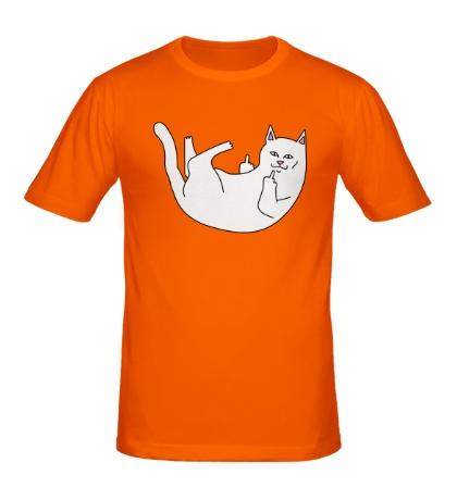Мужская футболка Падающая киса