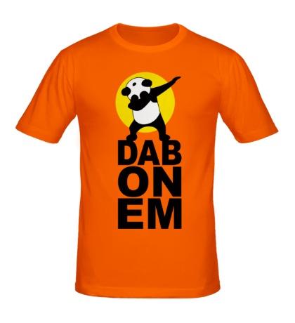 Мужская футболка Panda: DAB ON EM