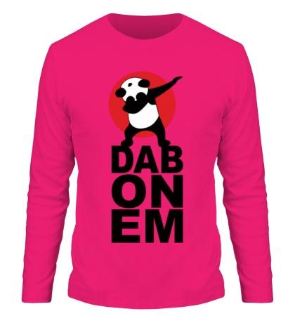 Мужской лонгслив Panda: DAB ON EM