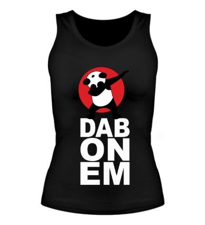 Женская майка Panda: DAB ON EM
