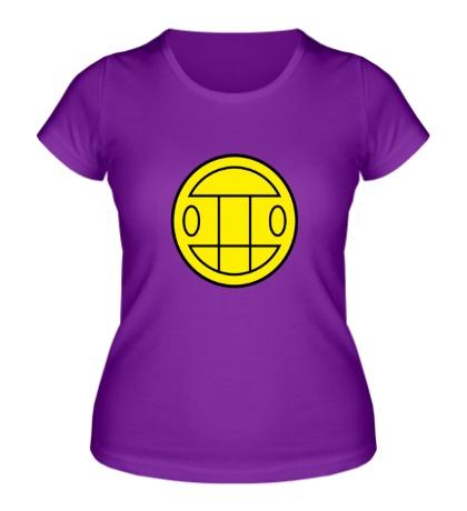 Женская футболка Грибы: лого желтый
