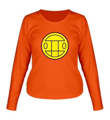 Женский лонгслив Грибы: лого желтый