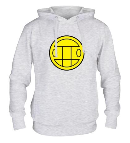 Толстовка с капюшоном Грибы: лого желтый