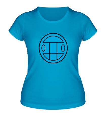 Женская футболка Грибы: лого синий