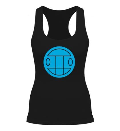 Женская борцовка Грибы: лого синий