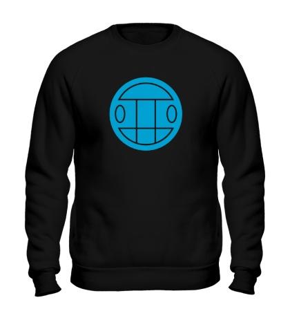 Свитшот Грибы: лого синий