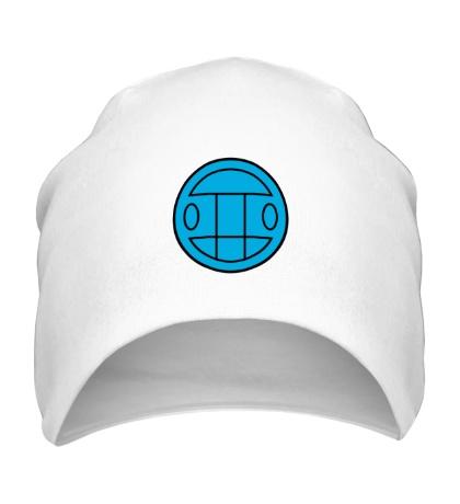 Шапка Грибы: лого синий