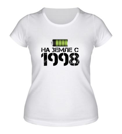 Женская футболка На земле с 1998