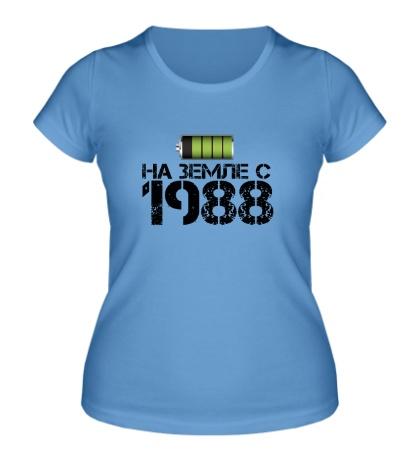 Женская футболка На земле с 1988