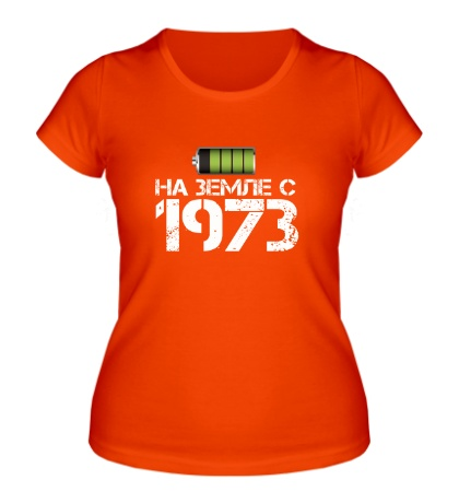 Женская футболка На земле с 1973
