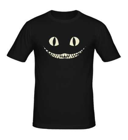 Мужская футболка Чеширский кот свет