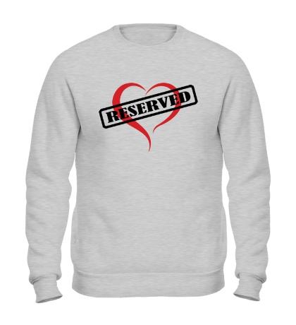 Свитшот Reserverd Love
