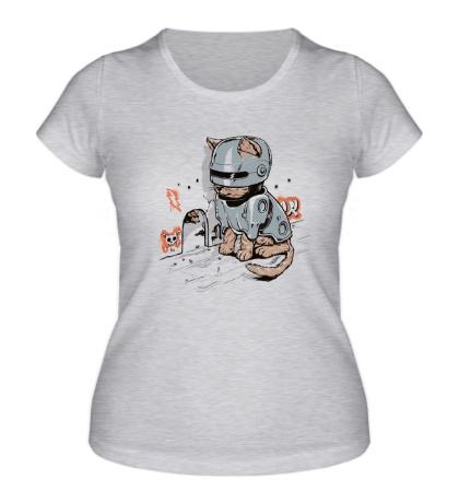 Женская футболка Робокот