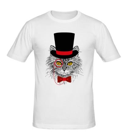 Мужская футболка Джентльменский кот