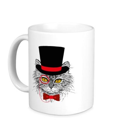 Керамическая кружка Джентльменский кот