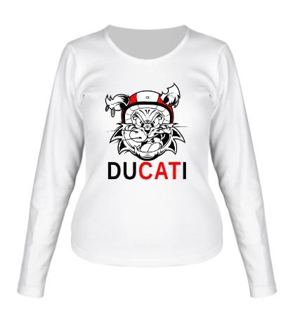Женский лонгслив Du-CAT-i