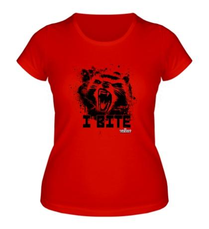 Женская футболка Rocket: I bite