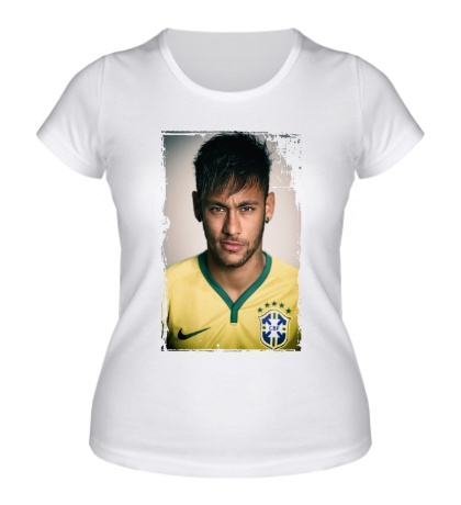 Женская футболка Neymar: Portrait