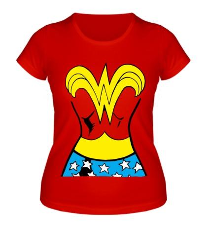 Женская футболка Костюм Чудо-женщины