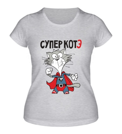 Женская футболка Супер котэ