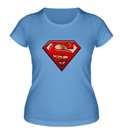 Женская футболка Super-грудь