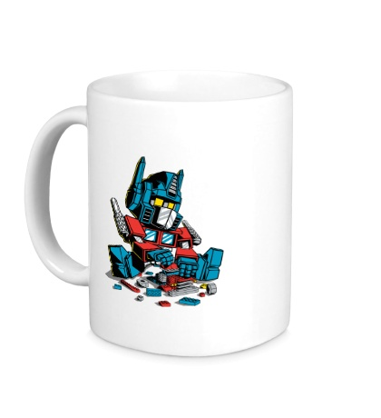 Керамическая кружка Lego: Optimus Prime