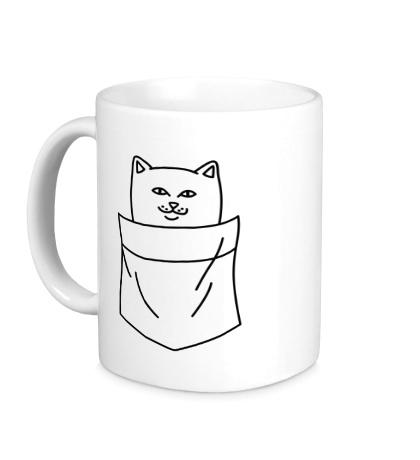 Керамическая кружка Ripndip cat in pocket