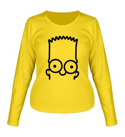 Женский лонгслив Bart Simpson