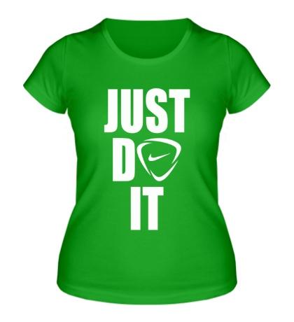 Женская футболка Just do it