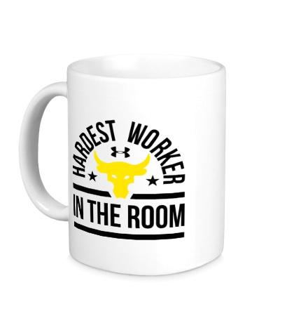 Керамическая кружка Hardest Worker in the Room